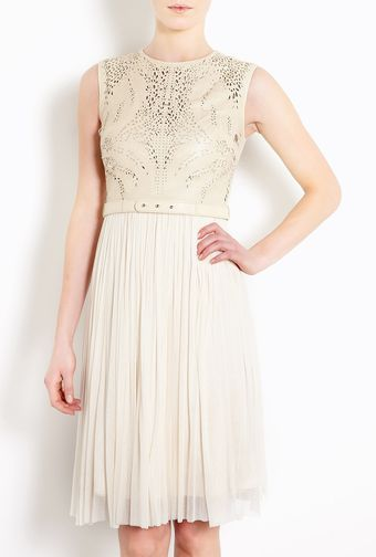 Catherine Deane Octavia Laser Cutout Bodice Silk Tulle Skirt Dress with Lea - Lyst