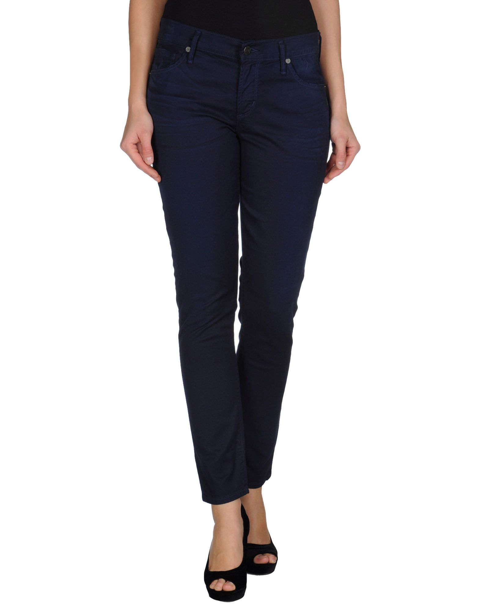 citizens of humanity denim trousers in blue lyst. Black Bedroom Furniture Sets. Home Design Ideas
