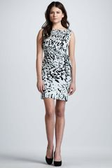 Diane Von Furstenberg New Della Paint Splash Printed Dress - Lyst