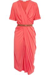 Donna Karan New York Draped Stretch crepe Dress - Lyst