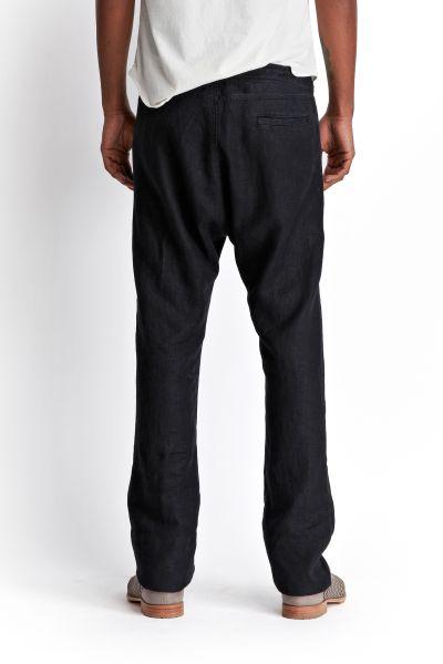 Mens Black Linen Drawstring Pants Linen Drawstring Judo Pant