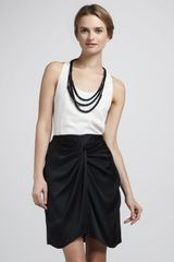 Elizabeth And James Femi Draped Silk Skirt - Lyst