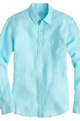 J.Crew Slim Irish Linen Shirt - Lyst