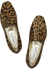 Jimmy Choo Wheel Jaguarprint Calf Hair Slippers - Lyst
