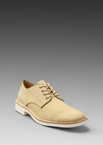 John Varvatos Sid Canvas Derby in Bamboo - Lyst