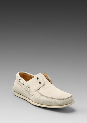 John Varvatos Schooner Boat Shoe in Birch - Lyst