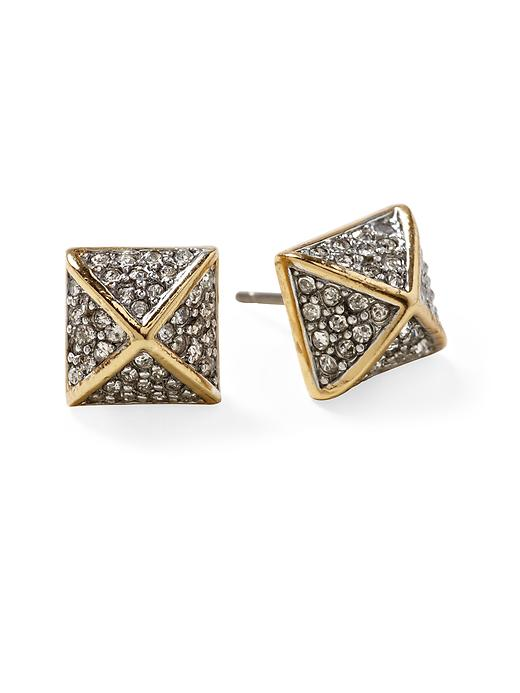 juicy couture pav pyramid stud earring in gold lyst. Black Bedroom Furniture Sets. Home Design Ideas