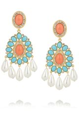 Kenneth Jay Lane Gold-Plated Swarovski Crystal Clip Earrings - Lyst