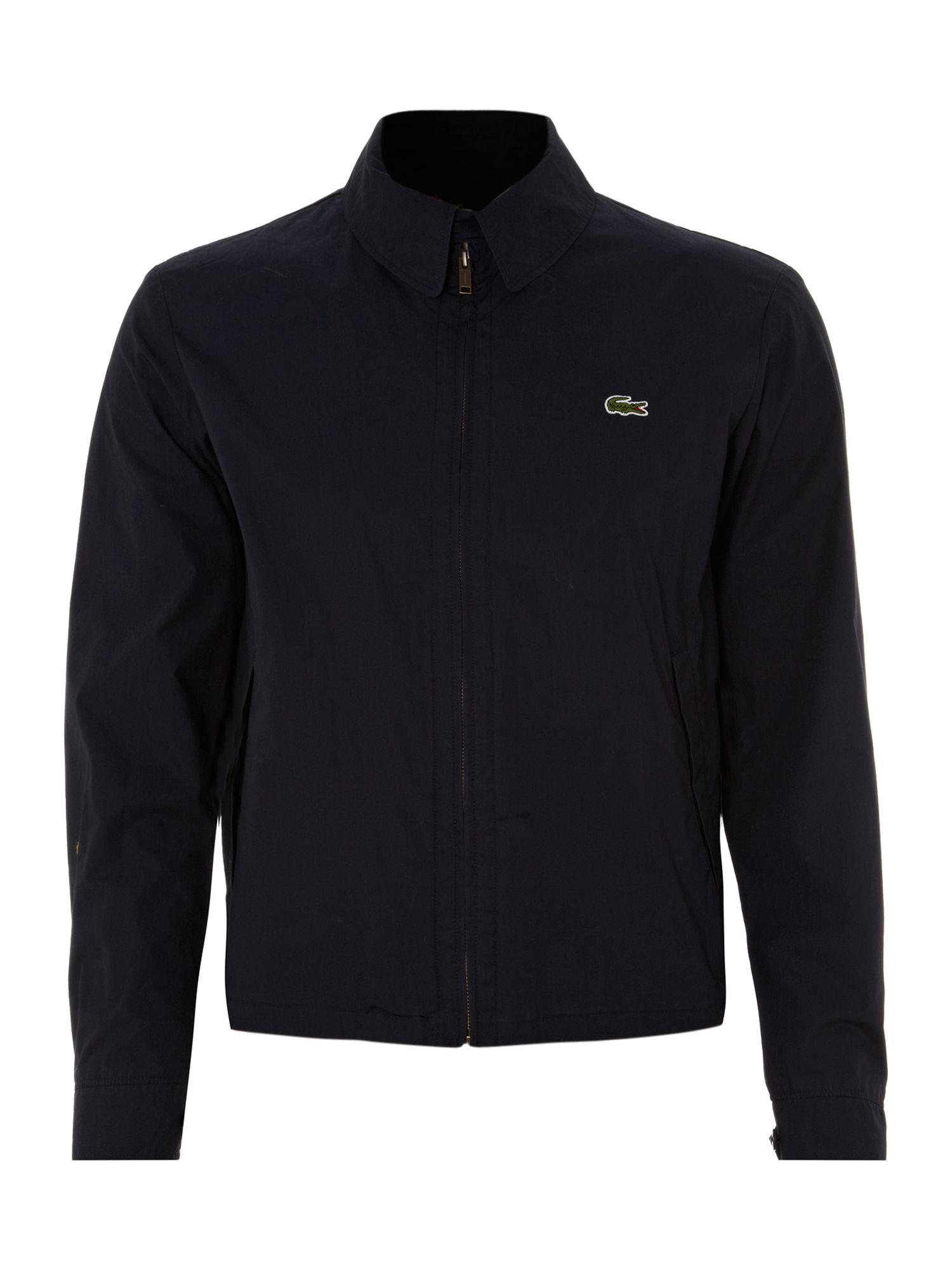 lacoste light weight harrington jacket in blue for men black lyst. Black Bedroom Furniture Sets. Home Design Ideas