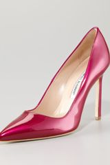 Manolo Blahnik Bb Pearly Patent Pump - Lyst