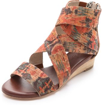 Matt Bernson Delphine Cork Wedge Sandals - Lyst