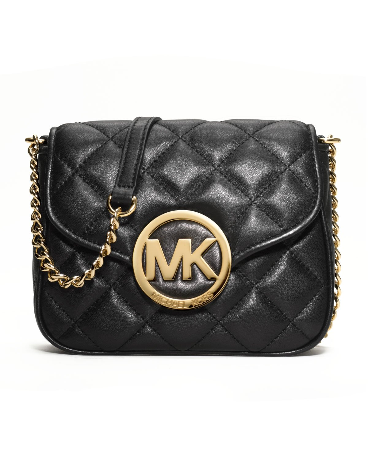 Michael michael kors Fulton Quilted Crossbody in Black | Lyst : michael kors fulton quilted tote - Adamdwight.com