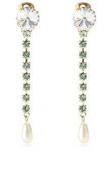 Miu Miu Ara Crystal Bead Embellished Earrings - Lyst