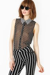 Nasty Gal Pattern Break Blouse - Lyst