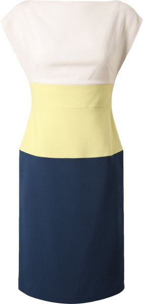 Osman Yousefzada Crepe Wool Colourblocked Dress - Lyst