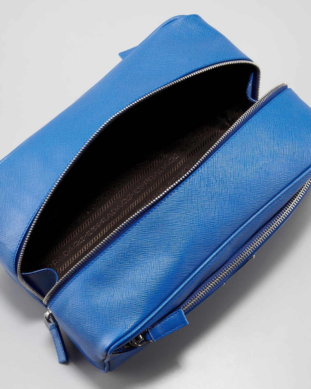 Prada Saffiano Travel Toiletry Bag in Blue for Men (null)   Lyst