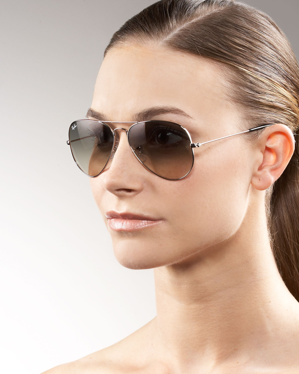 oversized aviators ray ban  Ray-ban Classic Aviator Sunglasses in Brown