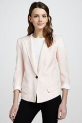 Smythe Sharp-shoulder One-button Blazer - Lyst