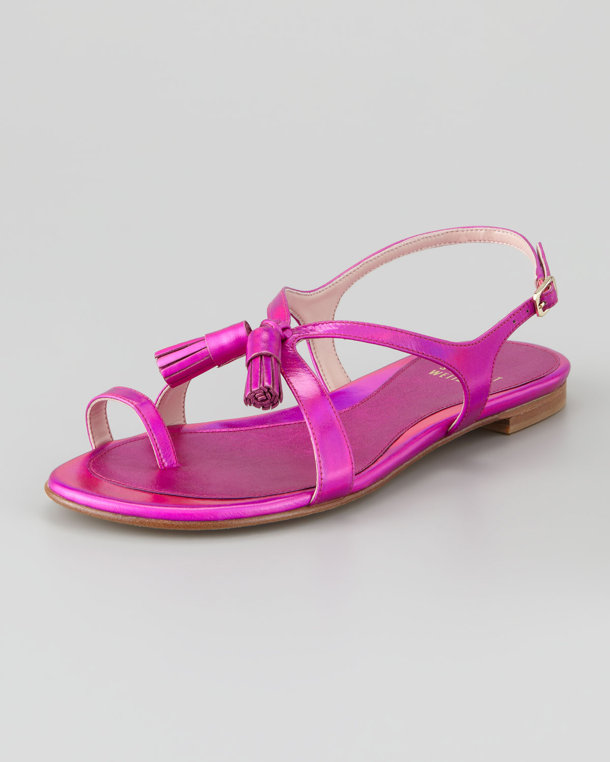Shocking Pink Flat Shoes