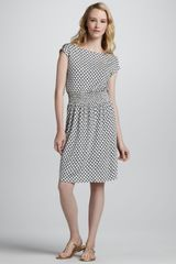 Tory Burch Justina Scallopprint Dress - Lyst