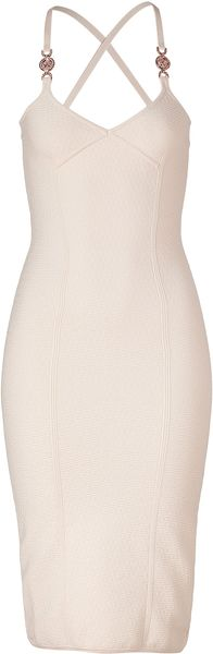 Versace Stretch Cotton Dress - Lyst