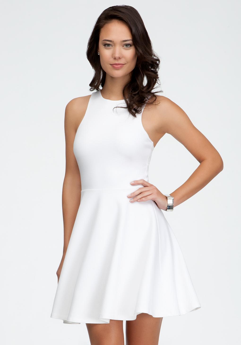 Lyst Bebe Cut Out Mini Dress In White