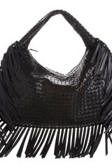 Bottega Veneta Large Intrecciato Fringe Veneta Hobo Bag - Lyst