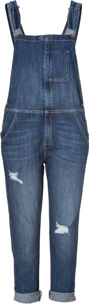 Current/elliott Traveler Denim Ranch Hand Overall in Blue (denim) - Lyst