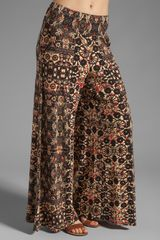 Free People Knit Wide Leg Pant in Orange Combo - Lyst