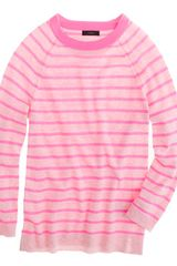 J.Crew Collection Cashmere Raglan Sweater in Stripe - Lyst
