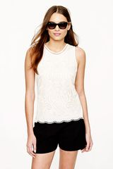 J.Crew Embroidered Eyelet Tank - Lyst