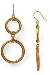 Lauren by Ralph Lauren Chain Link Double Drop Earrings - Lyst