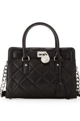 Michael by Michael Kors Hamilton Quilted Eastwest Satchel Bag - Lyst