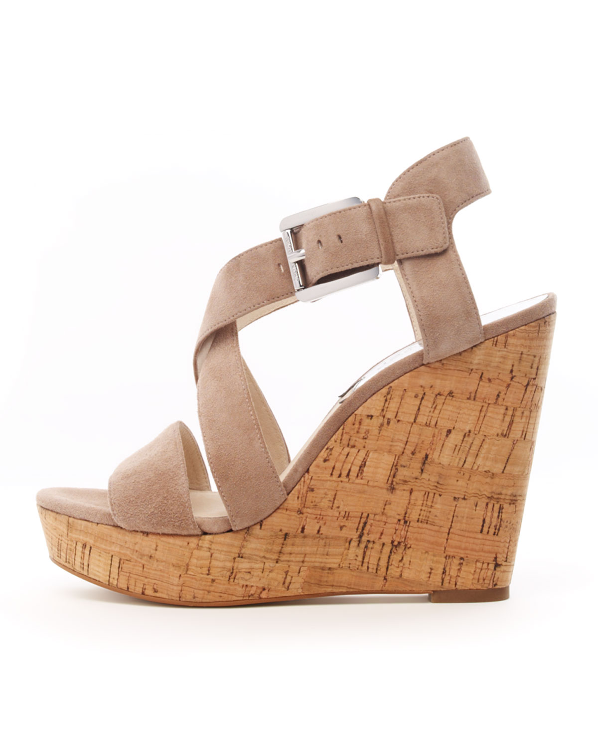 Lyst Michael Kors Giovanna Suede Espadrille Wedge In Brown