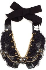 Michaela Buerger Studded Crochet Sofia Collar