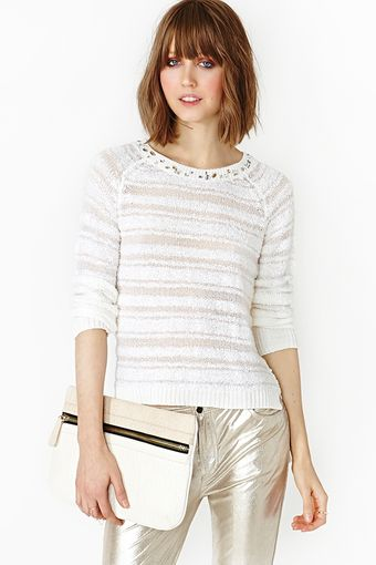 Nasty Gal Crystal Knit - Lyst