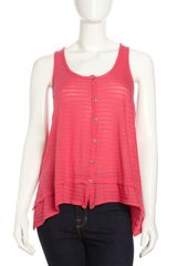 Splendid Draped Tank - Lyst