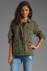 Velvet X Lily Aldridge Ruby Army Jacket in Forest - Lyst