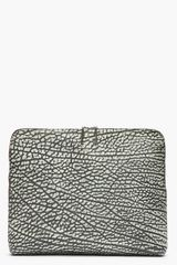 3.1 Phillip Lim Black and Grey 31 Minute Bag Bull Grain Clutch - Lyst