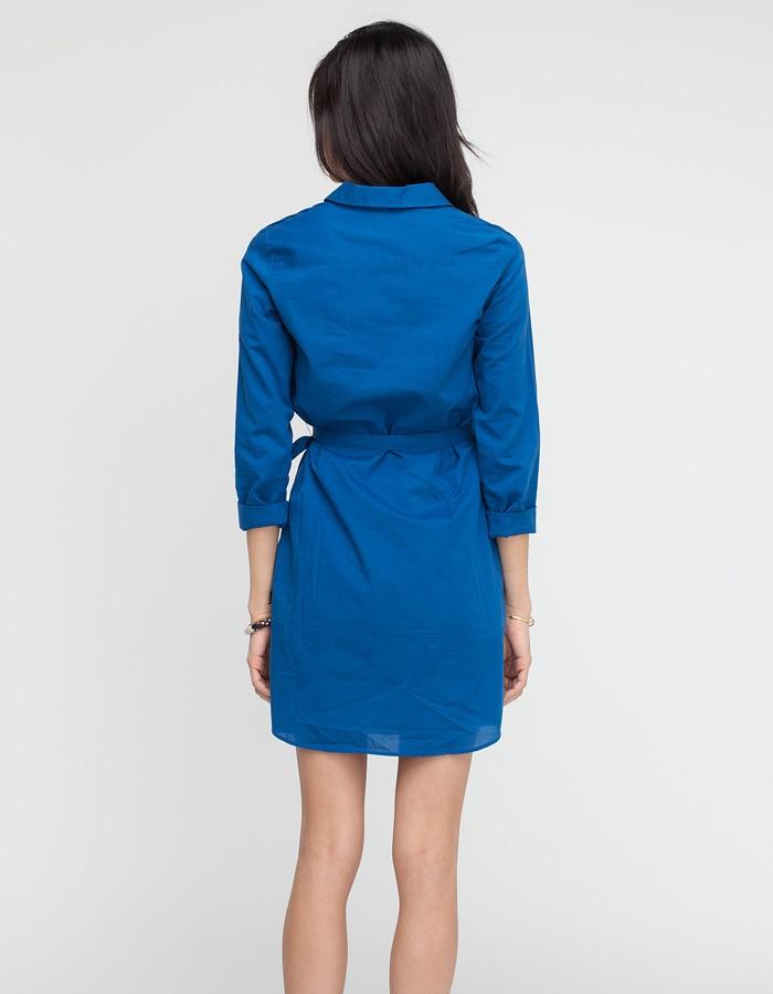 lyst a p c robe chemise sport in blue. Black Bedroom Furniture Sets. Home Design Ideas