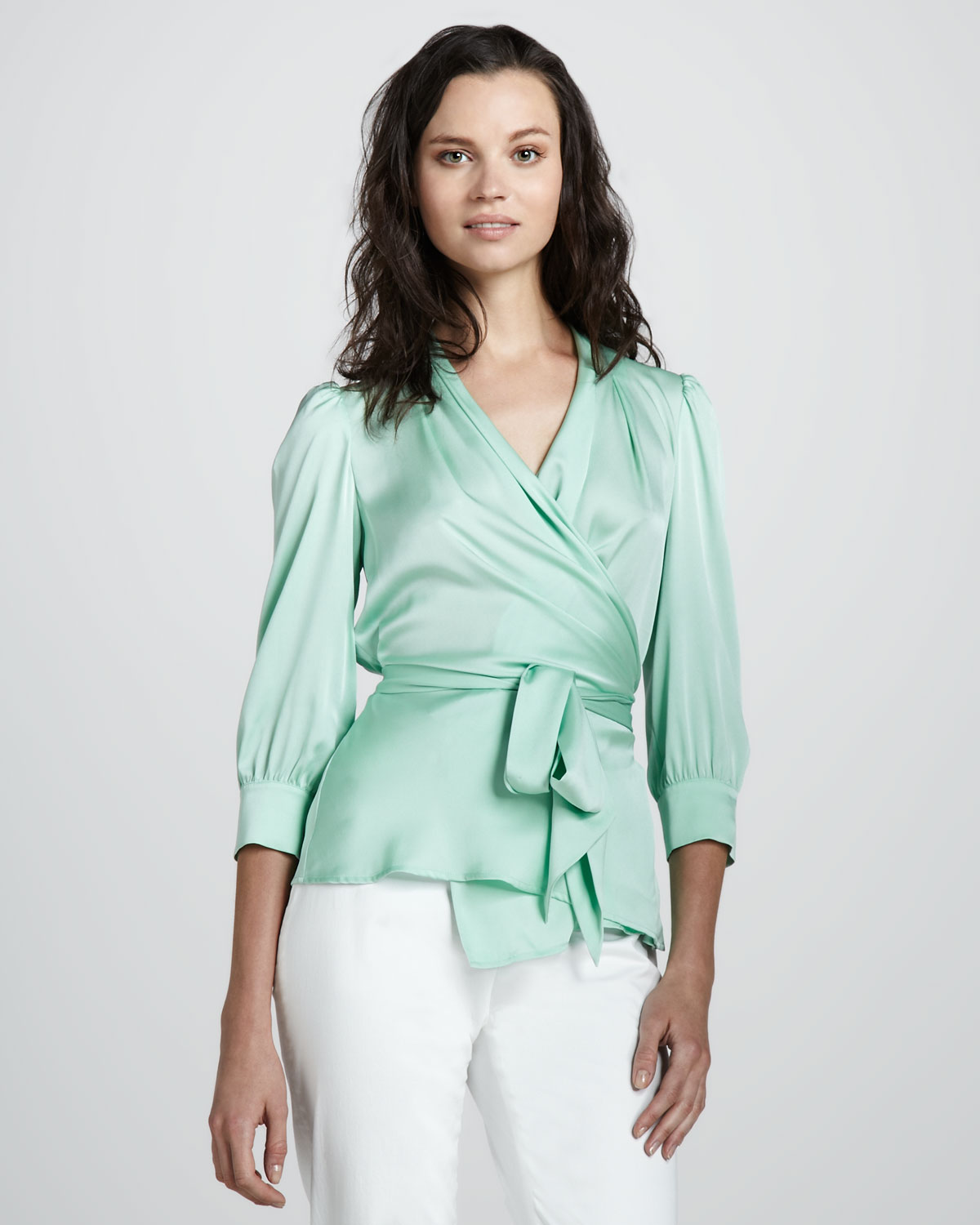 Images of Wrap Blouse - Reikian