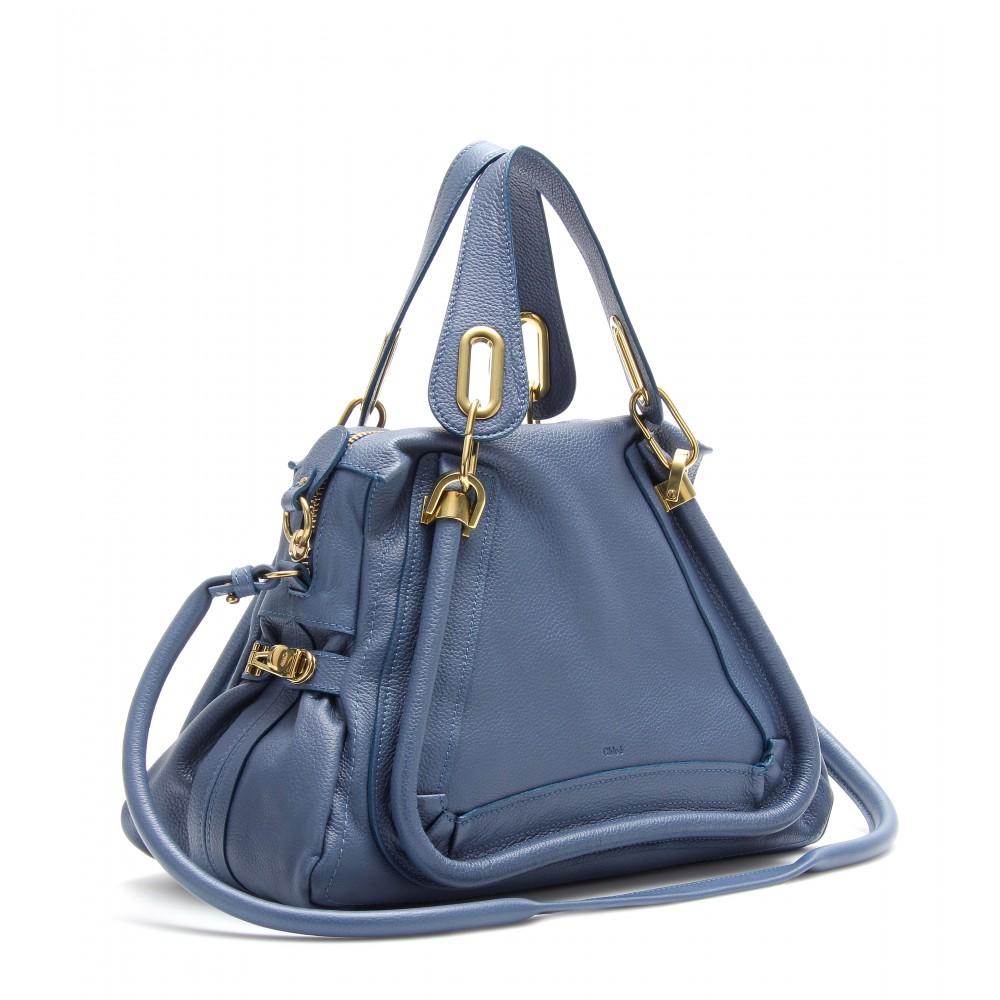 Chlo¨¦ Paraty Medium Leather Shoulder Bag in Blue (blueberry) | Lyst