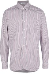 Engineered Garments Broadcloth Stripe Shirt - Lyst