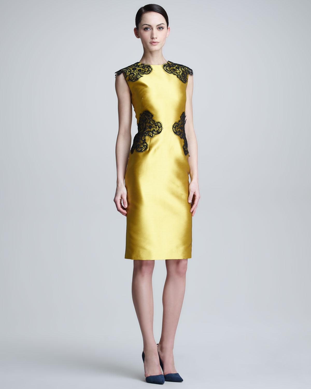 Golden Satin Dress