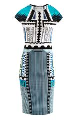 Mary Katrantzou Bloomberg Print Jersey Dress - Lyst
