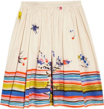 RED Valentino Printed Cotton Skirt - Lyst