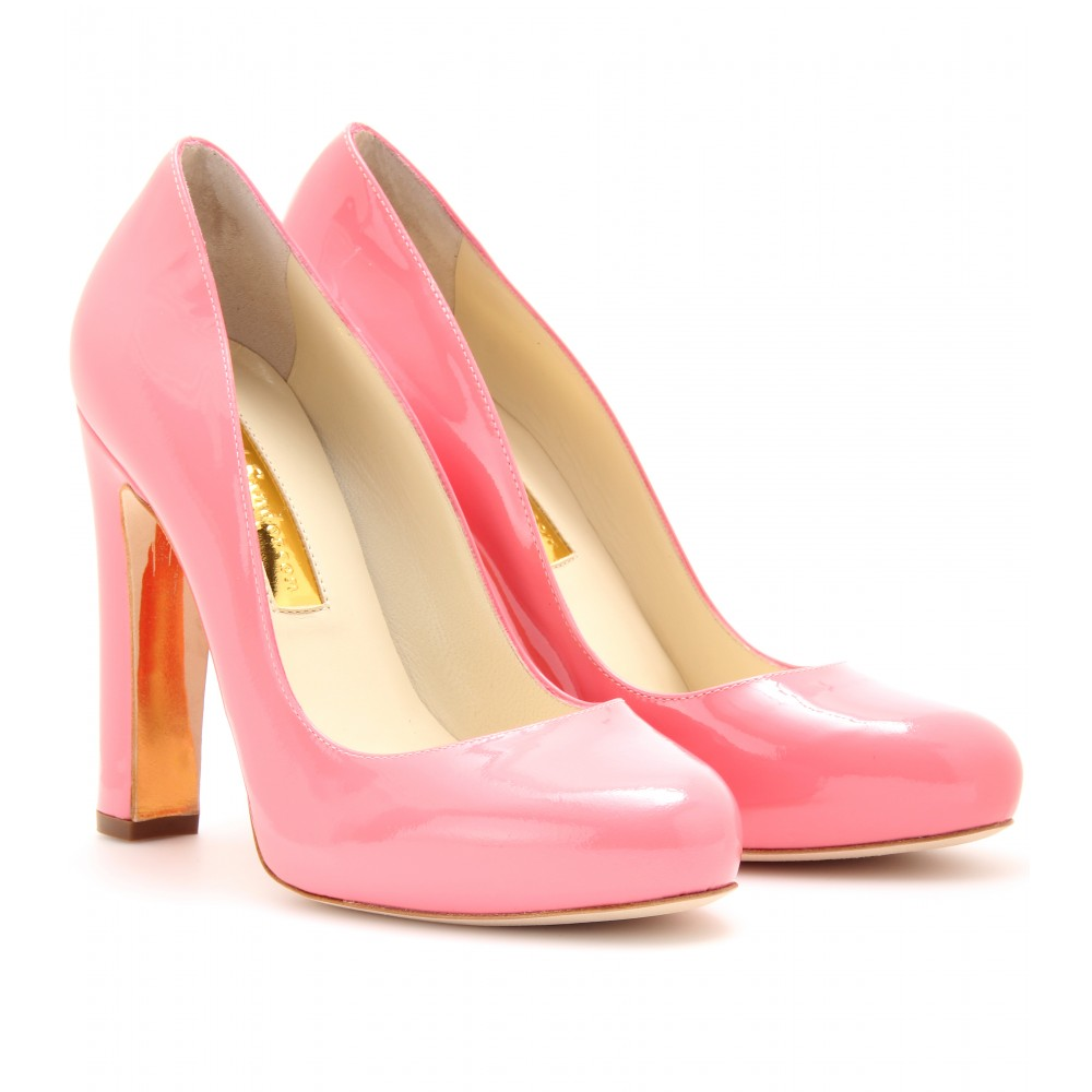 c4896209dccc RUPERT SANDERSON Pink Denia Patent Leather Platform Pumps