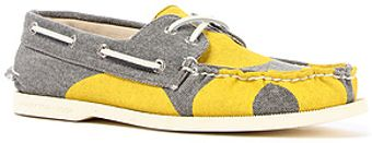 Sperry Topsider The Ao 2eye Hand Painted Boat Shoe in Yellow Grey - Lyst