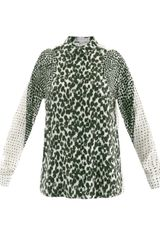 Stella McCartney Gaia Painted Spotprint Shirt