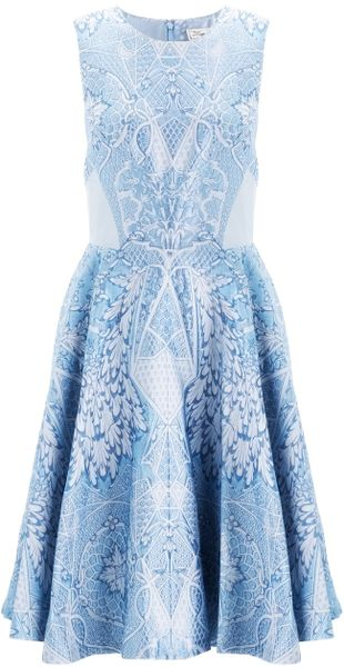 Temperley London China Blue Jacquard Dress - Lyst